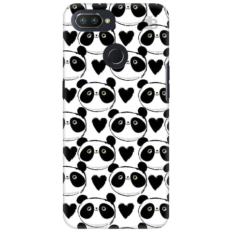 Happy Panda Pattern Oppo RealMe 2 Pro Cover