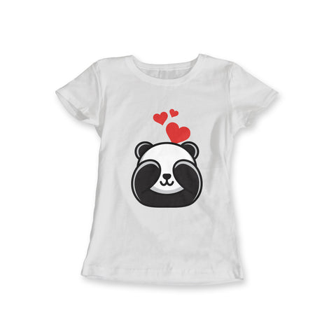 Panda In Love Women Tee