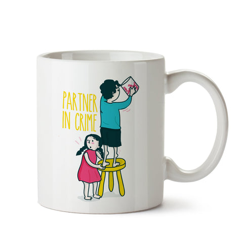 Partner In Crime White Coffee Mug