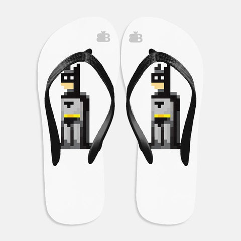 Pixelated Superhero Flip Flops