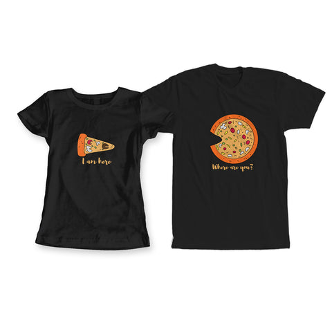 Pizza Couple Tees