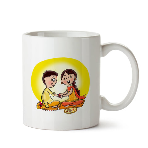 Rakhi White Coffee Mug