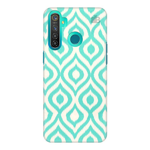 Cyan Ikat Realme 5 Pro Cover