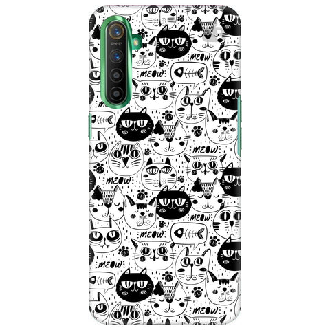 Cute Cats Pattern Realme X2 Cover