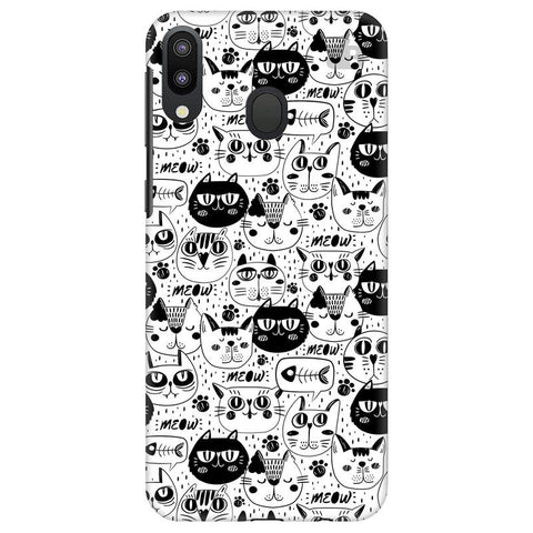 Cute Cats Pattern Samsung Galaxy M20 Cover
