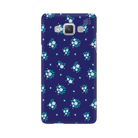 Blue Floral Pattern Samsung A5 Phone Cover