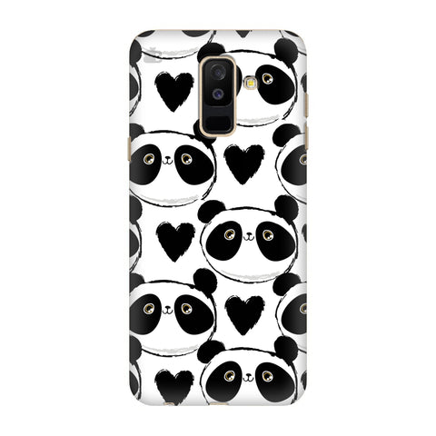 Happy Panda Pattern Samsung A6+ Cover
