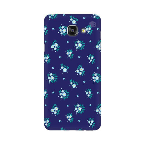 Blue Floral Pattern Samsung A7 2016 Phone Cover