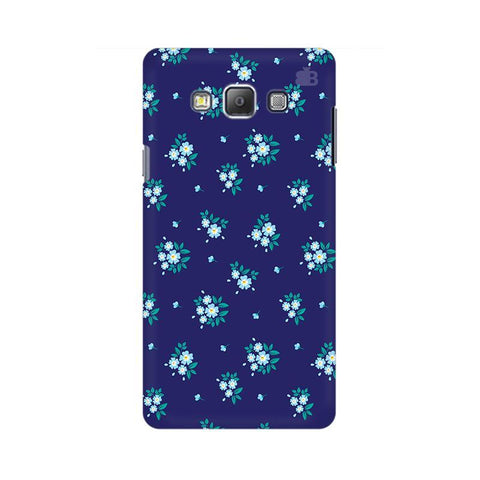 Blue Floral Pattern Samsung A7 Phone Cover