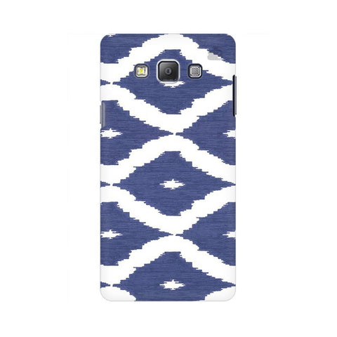 Blue Ikat Samsung A7 Phone Cover