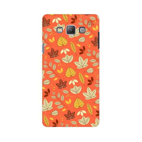 Cute Leaves Pattern Samsung A7 Phone Cover