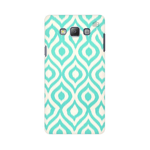 Cyan Ikat Samsung A7 Phone Cover