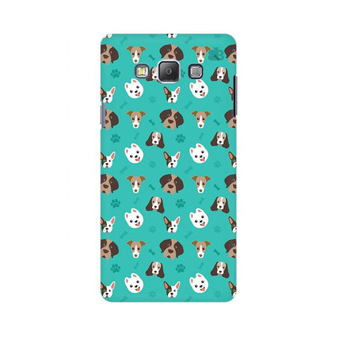Doggie Pattern Samsung A7 Phone Cover