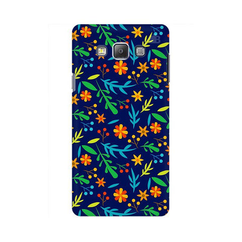Vibrant Floral Pattern Samsung A7 Phone Cover