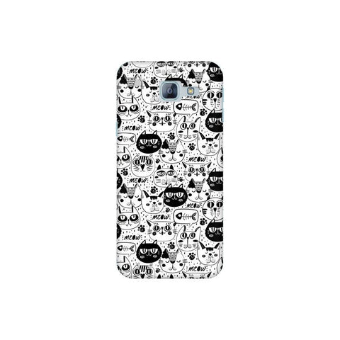Cute Cats Pattern Samsung A8 2016 Phone Cover