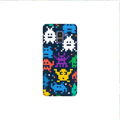 16 Bit Pattern Samsung A8 Plus Phone Cover
