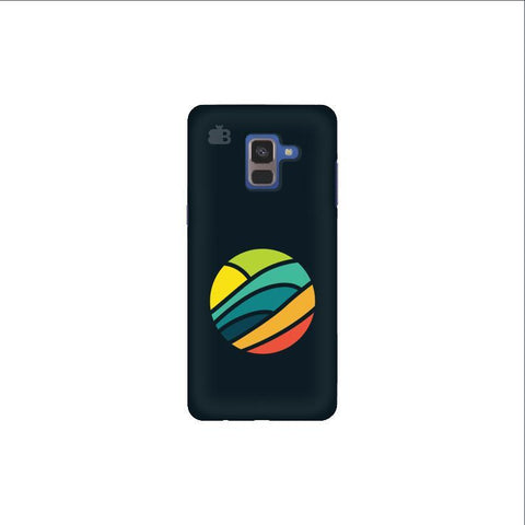 Abstract Circle Samsung A8 Plus Phone Cover