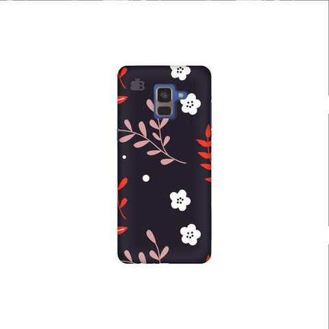 Autumn Floral Pattern Samsung A8 Plus Phone Cover