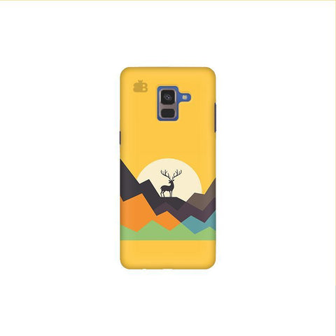 Deer in Mountains Samsung A8 Plus Phone Cover
