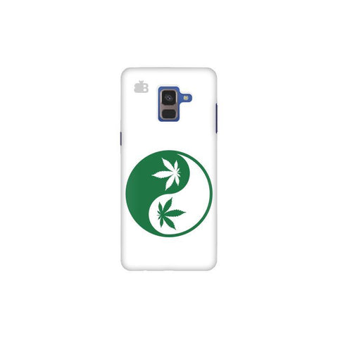 Weed Yin Yang Samsung A8 Plus Phone Cover