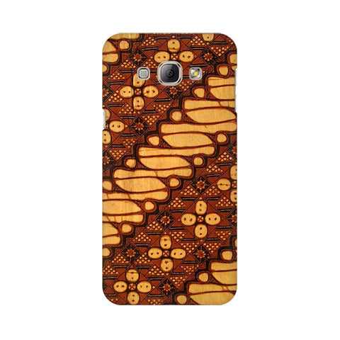 Brown Batik Samsung A8 Phone Cover