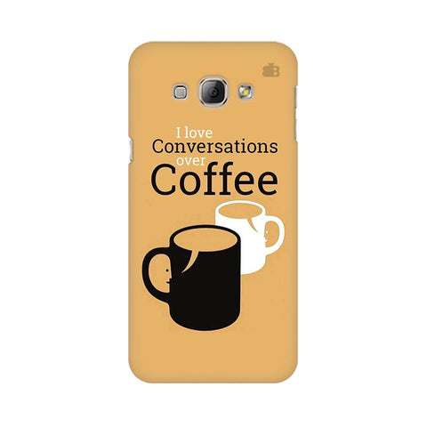 Convos over Coffee Samsung A8 Phone Cover