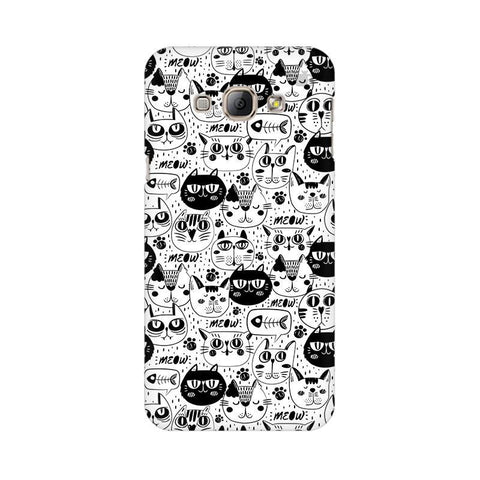 Cute Cats Pattern Samsung A8 Phone Cover