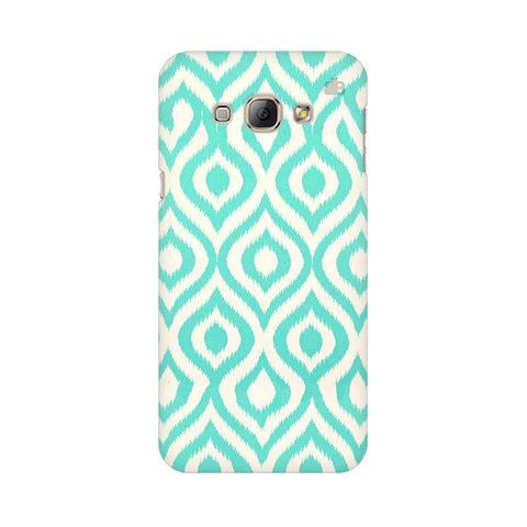 Cyan Ikat Samsung A8 Phone Cover