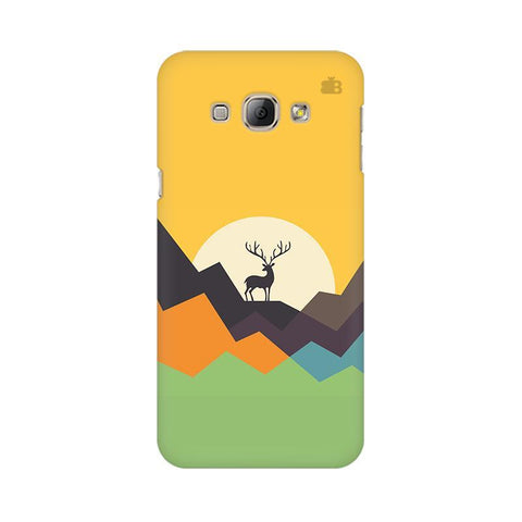 Deer in Mountains Samsung A8 Phone Cover