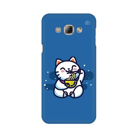 KItty eating Noodles Samsung A8 Phone Cover