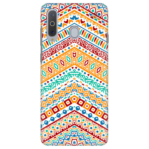 Wavy Ethnic Art Samsung A8s Cover