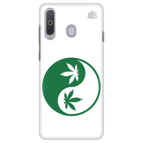 Weed Yin Yang Samsung A8s Cover