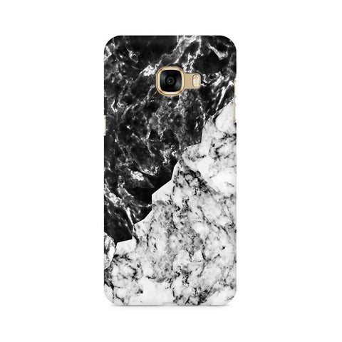 Black White Marble Samsung C7 Pro Cover