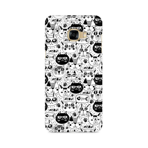 Cute Cats Pattern Samsung C7 Pro Cover