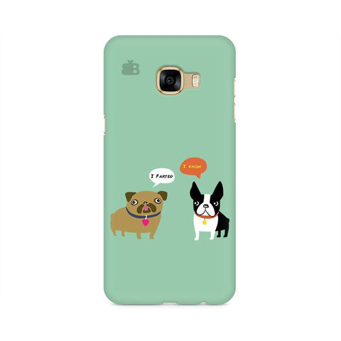 Cute Dog Buddies Samsung C7 Pro Cover