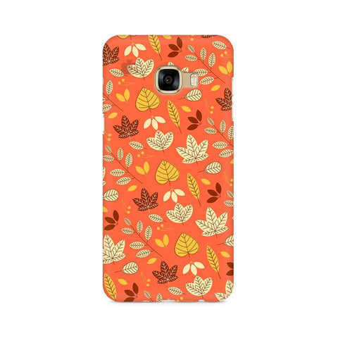 Cute Leaves Pattern Samsung C7 Pro Cover