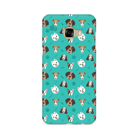 Doggie Pattern Samsung C7 Pro Cover