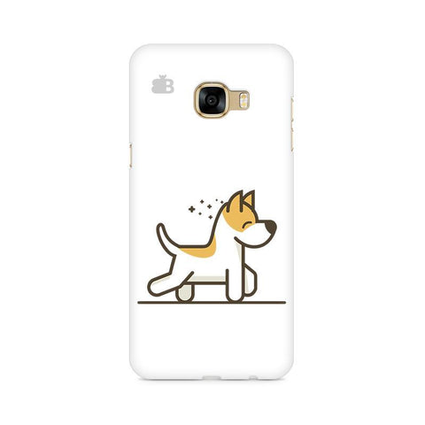 Happy Puppy Samsung C7 Pro Cover