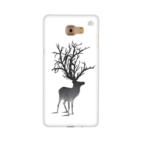 Abstract Deer Samsung C9 Pro Cover
