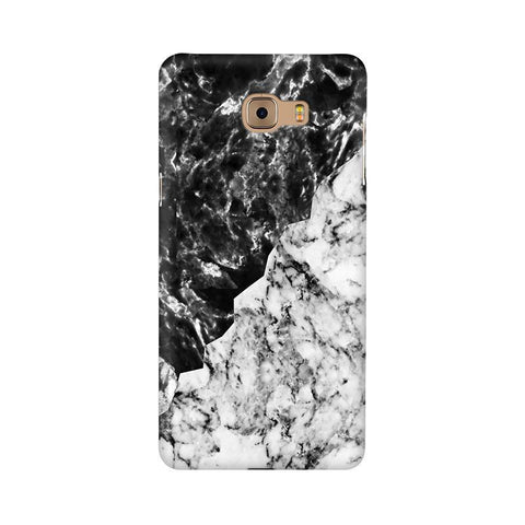 Black White Marble Samsung C9 Pro Cover