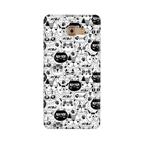Cute Cats Pattern Samsung C9 Pro Cover