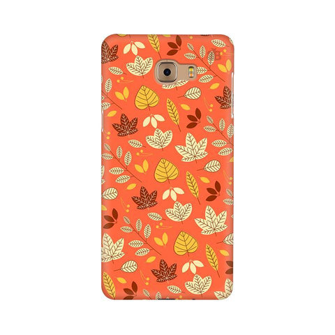 Cute Leaves Pattern Samsung C9 Pro Cover
