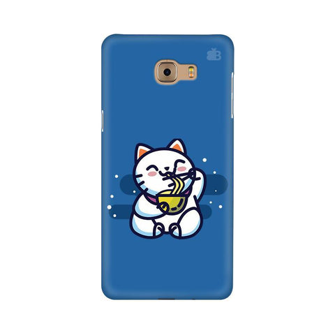 KItty eating Noodles Samsung C9 Pro Cover