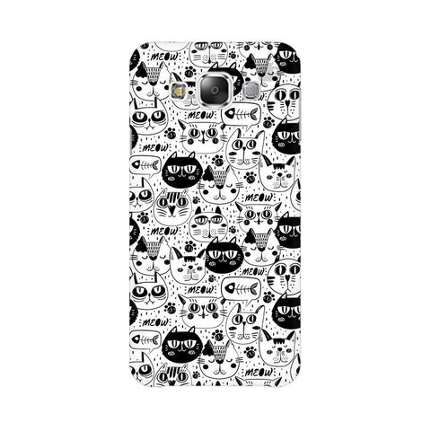 Cute Cats Pattern Samsung E5 Cover