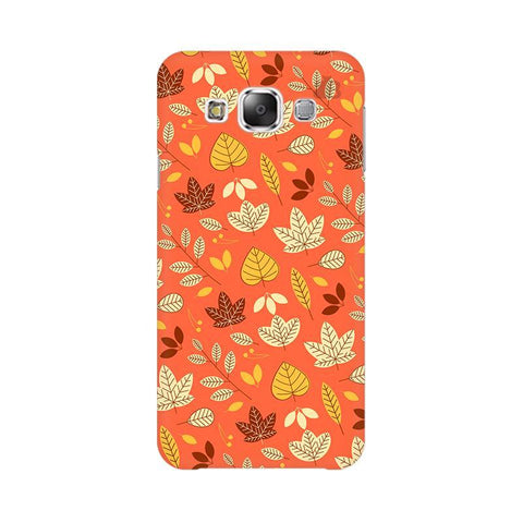 Cute Leaves Pattern Samsung E5 Cover