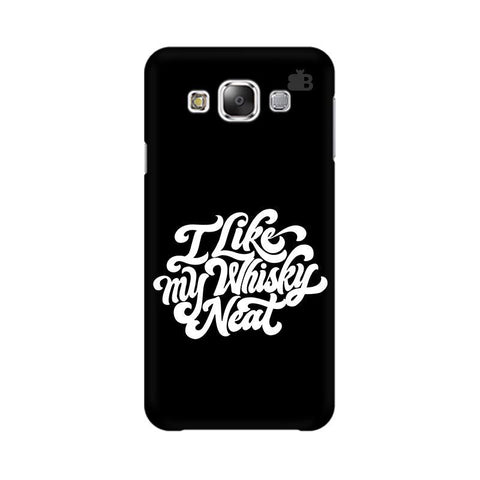Whiskey Neat Samsung E5 Cover
