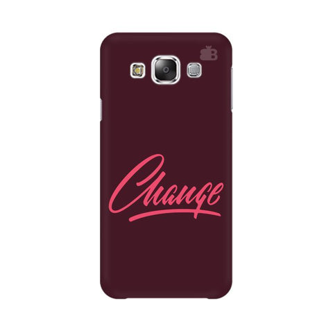 Change Samsung E7 Cover