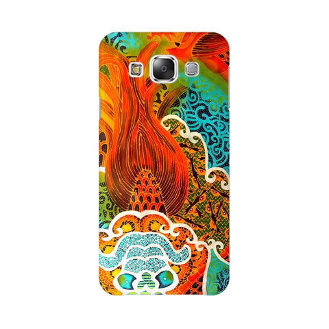 Colorful Batik Art Samsung E7 Cover