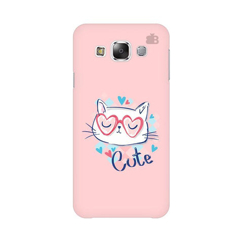 Cute Sleepy Kity Samsung E7 Cover