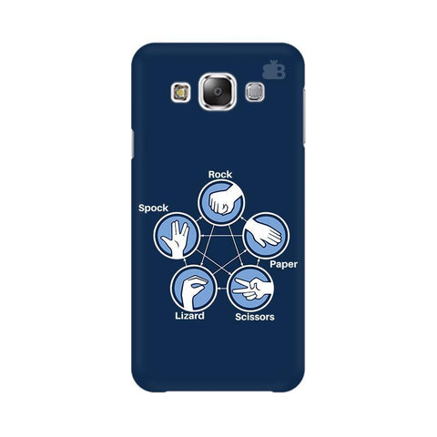 Rock Paper Scissors Samsung E7 Cover